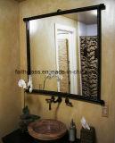 Rectifier composent le miroir en aluminium de couleur d'argent de salle de bains de miroir de miroir