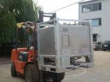 De vorkheftruck draagt Roestvrij staal 304 de Chemische Tank van de Container