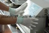 Перчатки ESD углерода связанные волокном работая, перст покрыли с белым PU (PC8102)