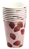 Одностеночно с бумажным стаканчиком напечатанным таможней устранимым для горячих пить