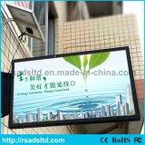 LED al aire libre que hace publicidad de la cartelera del rectángulo ligero con el panel solar