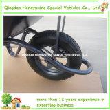 空気または固体ゴム製車輪(WB6400-A)が付いている強い構築の手押し車