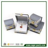 Cadre de bijou en plastique de vente de Leatherette de coin chaud d'or