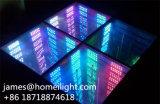 16 diodo emissor de luz Dance Floor do espelho 3D da infinidade do disco do partido da luz do estágio do diodo emissor de luz do controle da cor cheia do PCS RGB