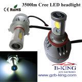 새로운 Arrival 3500lm Car 또는 Truck LED Headlight (팬 지능적인 검출에)