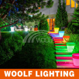 Início Resina decorativa LED Lighting Garden Flower Pot