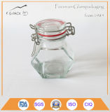 Cap 높은 쪽으로 Flip를 가진 향미료와 Salt Glass Jar