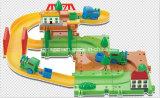 Juguete fijado trenes del juguete de las pistas