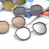 Lunettes de soleil en gros en métal de lentille de miroir de plot réflectorisé de qualité