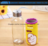 Neuheit-Arbeitsweg-Glaswasser-Flasche mit Hülse des Cup-Elementaroperation-Freindly