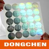 Lase brandde de Witte Sticker van het Hologram