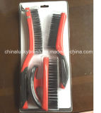Doppelte Farben-Plastikgriff-Stahldraht-Set-Pinsel (YY-513)