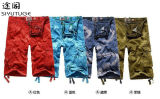 Cortocircuitos ocasionales Pocket lavados algodón de la manera del cargo de los hombres