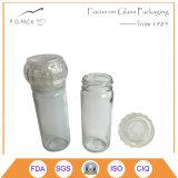 Laminatoio di pepe di vetro dell'annata, vaso di vetro della spezia con la smerigliatrice