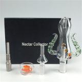 Rokende Pijp 14mm van het Glas van de Octopus Hete Verkopende de Collector van de Nectar van 18mm