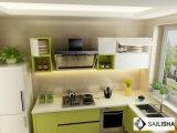 Moderne grüne Haupthotel-Möbel-Insel-hölzerner Küche-Schrank