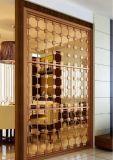 Écran extérieur en métal d'acier inoxydable de façades de panneau de coupure de laser d'or