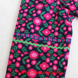 長いSleeve Fashion Print Tunic、LadiesのためのWoven Blouse