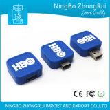 싼 선전용 사업 사각 플라스틱 USB 2.0 저속한 드라이브