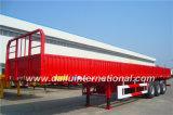 прямые Падени-Сторона луча 3-Axle/стенки трейлер Semi для перехода контейнера 20FT, в красном цвете цвета