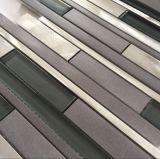 Guangzhou acero inoxidable Mix cristal de la teja de mármol del mosaico