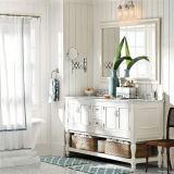 Новый пол стоя шкаф ванной комнаты двойной раковины