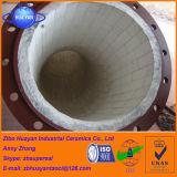 Le mattonelle di ceramica dell'allumina di 92% hanno allineato la fodera di ceramica dell'allumina resistente all'uso del tubo d'acciaio fatta in Cina