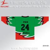 Sublimation passte Stutzen-Eis-Hockey-Jersey-Abnützung des Entwurfs-V an