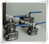 Lf2 Dn25 Three-Pieces Forged Ball Valve (1500PSI)