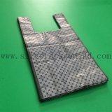 Biobased ou saco plástico do t-shirt da mercearia biodegradável com impressão