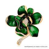 جديدة نمط مجوهرات [بروثروش] زهرة شكل سبيكة دبوس الزينة 4 ألوان