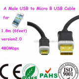 移動式Phone Male USBにMicro B USB Cable
