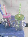 tasse en verre de forme du panda 350ml pour le boire de choc de maçon