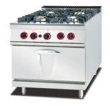 Stufa di gas dell'acciaio inossidabile con 4-Burner ed il forno di gas