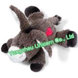 Peluche molle de cadeau d'enfants avec le jouet de peluche d'âne de selle