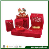 Caixa de jóias de veludo de plástico personalizado