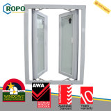 Finestra di vetro di vetratura doppia UPVC della stoffa per tendine economizzatrice d'energia del vinile
