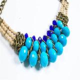 De nieuwe Juwelen van de Halsband van de Manier van de Parels van de Toon van het Ontwerp Blauwe Acryl