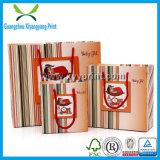 Sac de papier de papier d'aluminium de machine avec le sac de cadeau de papier de Noël de sac de cadeau de traitement
