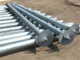Mucchio solare galvanizzato della vite del fondamento della costruzione del TUFFO caldo