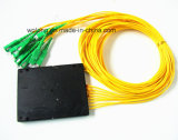 PC Rack Mount Fiber Optic Splitter di 1X4 FC