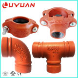 Conexão flexível de tubos ranhurados para o sistema de tubulação de abastecimento de água