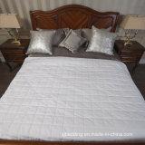 Protetor de cama de algodão reversível protetora de cama impermeável