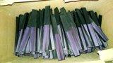 Dubbele Partijen die de Zwarte Ventilators van het Bamboe van het Handvat met de Druk van de Rib afdrukken