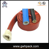 Chemise flexible d'incendie en verre de fibre de silicones