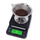 タイマー機能の3kg 0.1gデジタルの滴りの台所コーヒースケール