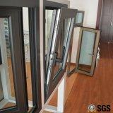 Thermisches Bruch-Aluminiumprofil-inneres Neigung-und Drehung-Fenster mit multi Verschluss, Aluminiumfenster, Fenster K04007