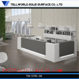 Conception de mode Design Lobby Counter Top Corian Receptionist Table