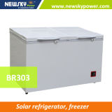 433L 212L Singel & congelador solar da caixa da C.C. da temperatura dobro