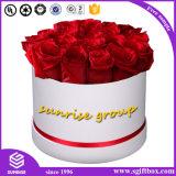 Caixa de presente redonda do papel da flor do projeto novo